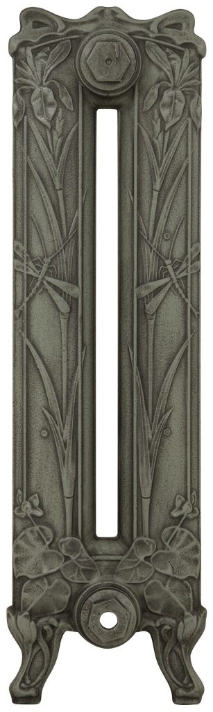 Cast Iron Radiator Dragonfly Antique French Grey