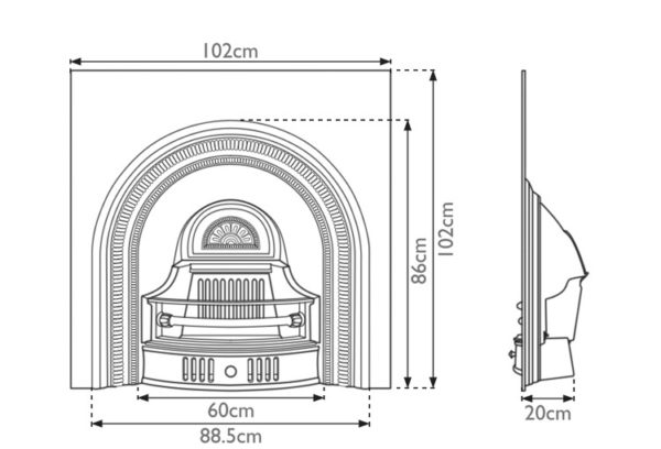 Collingham Cast Iron Fireplace Insert Drawing 2020
