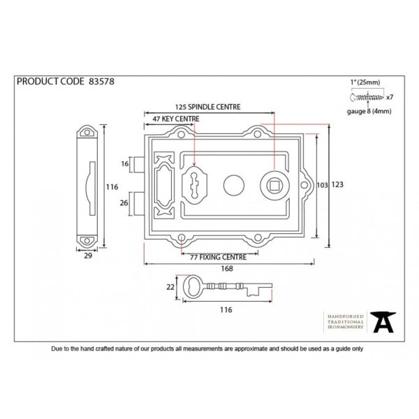 Iron Davenport Rim Lock Drawing Home Refresh 2020