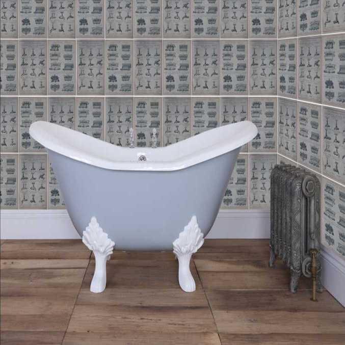 Banburgh small cast iron bath home refresh for Small baths 1100