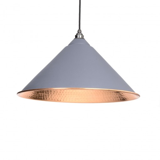 DARK GREY & HAMMERED COPPER INTERIOR HOCKLEY PENDANT FROM THE ANVIL_HOME REFRESH