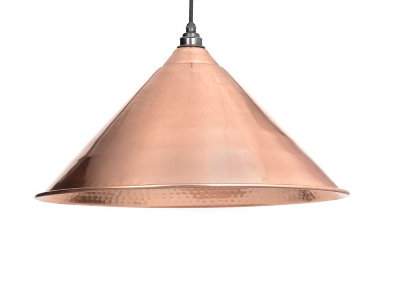 HAMMERED COPPER INTERIOR HOCKLEY PENDANT FROM THE ANVIL_HOME REFRESH
