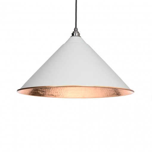 LIGHT GREY & HAMMERED COPPER INTERIOR HOCKLEY PENDANT FROM THE ANVIL_HOME REFRESH