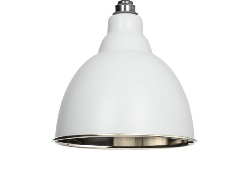 LIGHT GREY & SMOOTH NICKEL BRINDLEY PENDANT FROM THE ANVIL_HOME REFRESH