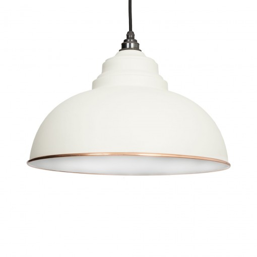 OATMEAL & WHITE INTERIOR HARBORNE PENDANT FROM THE ANVIL_HOME REFRESH
