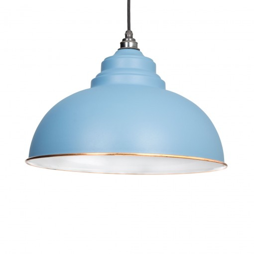 PALE BLUE & WHITE INTERIOR HARBORNE PENDANT FROM THE ANVIL_HOME REFRESH