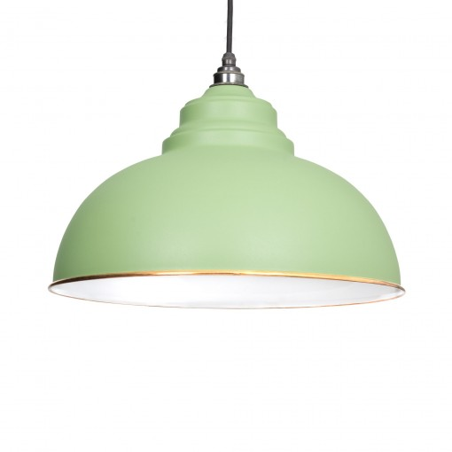 SAGE GREEN & WHITE INTERIOR HARBORNE PENDANT FROM THE ANVIL_HOME REFRESH