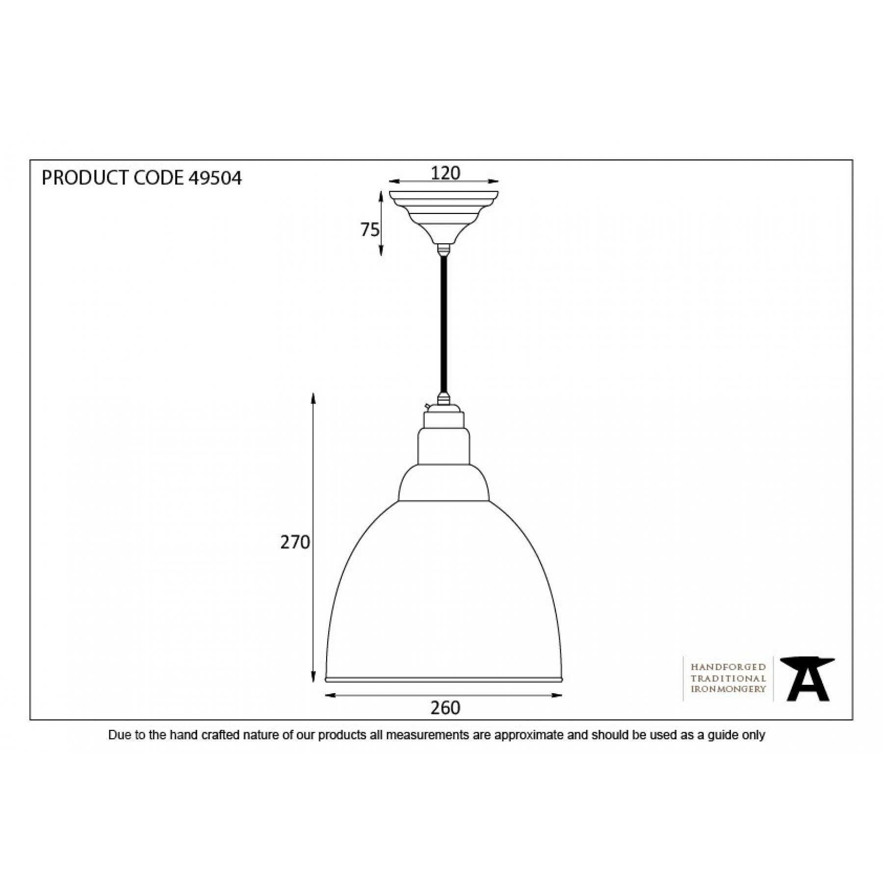 SMOOTH NICKEL INTERIOR BRINDLEY PENDANT DRAWING FROM THE ANVIL_HOME REFRESH