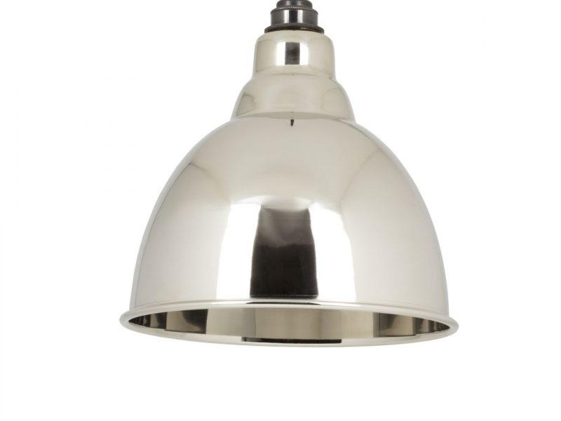 SMOOTH NICKEL INTERIOR BRINDLEY PENDANT FROM THE ANVIL_HOME REFRESH