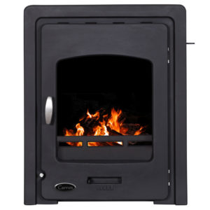 Carron Darwin Inset 4.7KW Cast Iron Wood Burning Stove Black