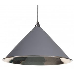 DARK GREY HAMMERED NICKEL HOCKLEY PENDANT FROM THE ANVIL_HOME REFRESH