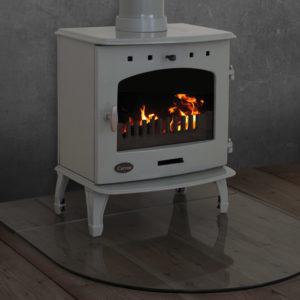 Glass Curved Stove Hearth 1