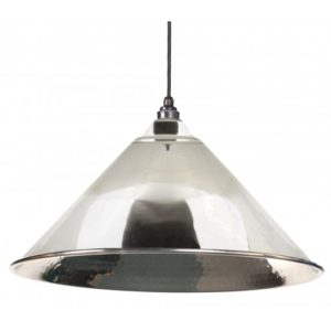 HAMMERED NICKEL HOCKLEY PENDANT FROM THE ANVIL_HOME REFRESH