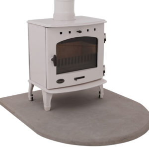 Sandstone Curved Stove Hearth Carron 1