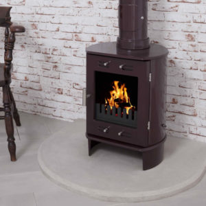 Sandstone Curved Stove Hearth Carron 2