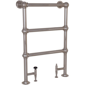 Colossus Steel Towel Rail Nickel - 1000mm x 650mm