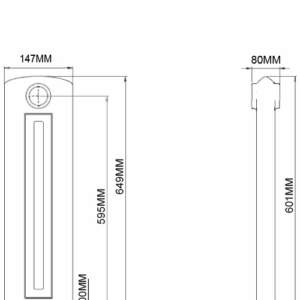 Home Refresh Arroll Art Deco Cast Iron Radiator 649mm Drawing