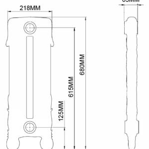 Home Refresh Arroll Chelsea Cast Iron Radiator Drawing
