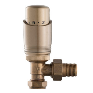 Home Refresh Arroll UK-11 Thermostatic Cast Iron Radiator Valve – Antique Copper 1