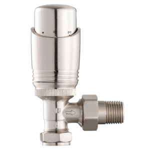 Home Refresh Arroll UK-11 Thermostatic Cast Iron Radiator Valve – Brushed Nickel 1